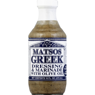 Mateo's Dressing & Marinade, Greek, with Olive Oil