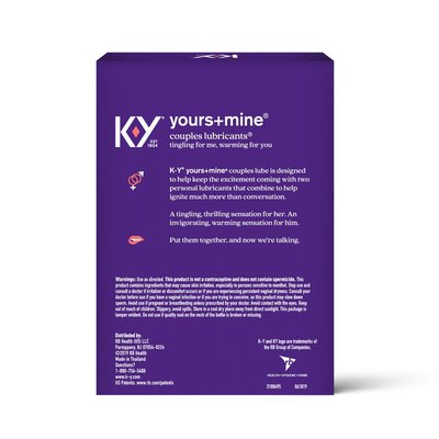 K-y® Yours + Mine Couples Personal Lubricant and Intimate Gel, Sex Lube for Women, Men and Couples