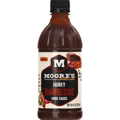 Moore's Wing Sauce, Honey Barbecue, Medium
