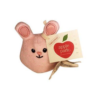 Apple Park Mini Blue Bunny Rattle Toy