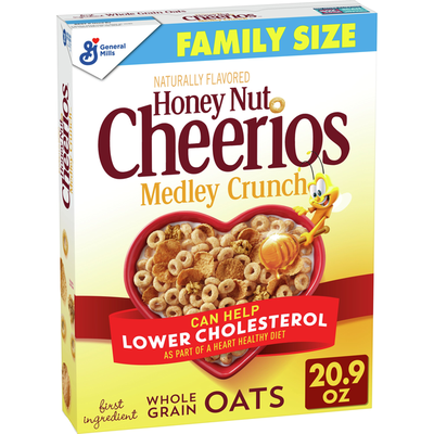 Honey Nut Cheerios Medley Crunch, Cereal with Oats