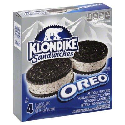 Klondike Frozen Dairy Dessert Sandwiches Oreo