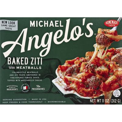 Michael Angelo's Baked Ziti, with Meatballs