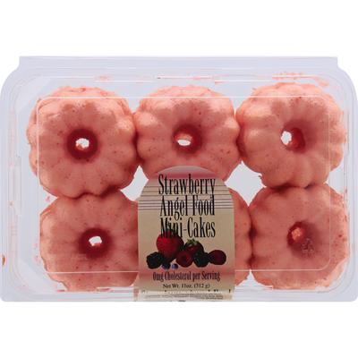 Olson's Baking Company Angel Food Mini-Cakes, Strawberry