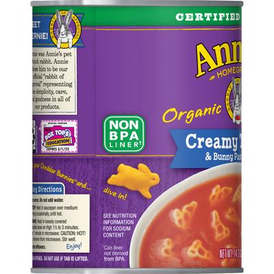 Annie's Creamy Tomato & Bunny Pasta Soup, Certified Organic, Non-GMO