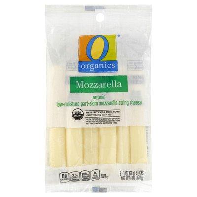 O Organics Mozzarella organic low-moisture part-skim string cheese