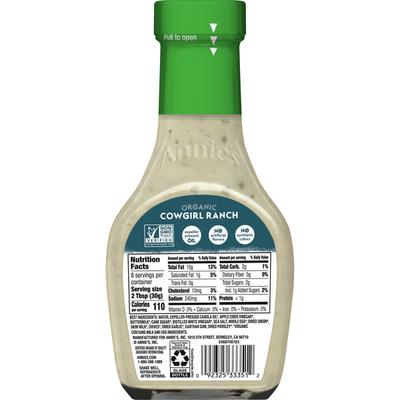 Annie's Cowgirl Ranch Salad Dressing, Non-GMO
