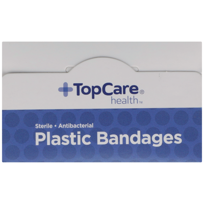 TopCare Antibacterial Plastic First Aid Antiseptic All One Size Bandages