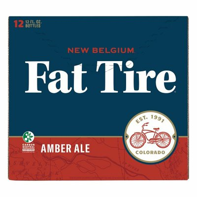 Fat Tire Amber Ale Beer, Amber Ale, 12 Pack