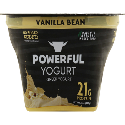 Powerful Nutrition Yogurt, Greek, Vanilla Bean