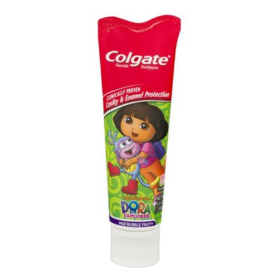 Colgate Dora The Explorer Fluoride Toothpaste Mild Bubble Fruit