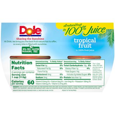 Dole Tropical Fruit in 100% Juice