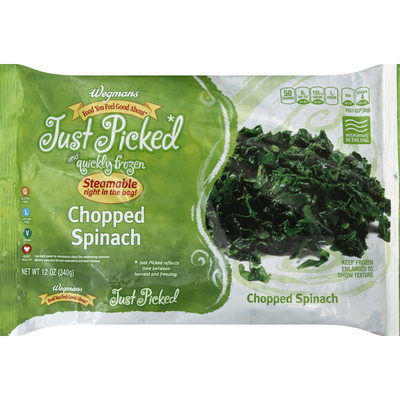 Wegmans Food You Feel Good About Just Picked and Quickly Frozen Chopped Spinach