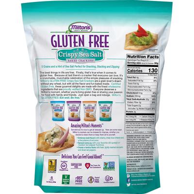 Miltons Baked Crackers, Gluten Free, Crispy Sea Salt