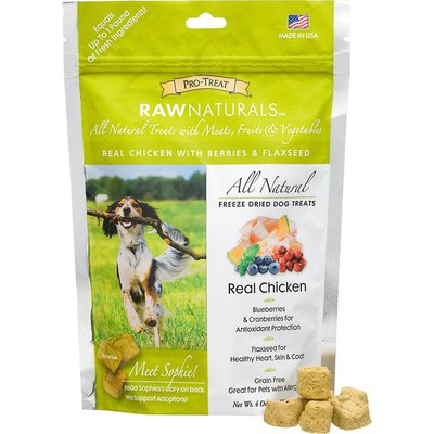Pro Treat Raw Naturals All Natural Freeze Dried Dog Treats Real Chicken
