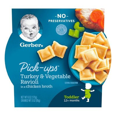 Gerber Turkey and Vegetable Ravioli Packed in Chicken Broth