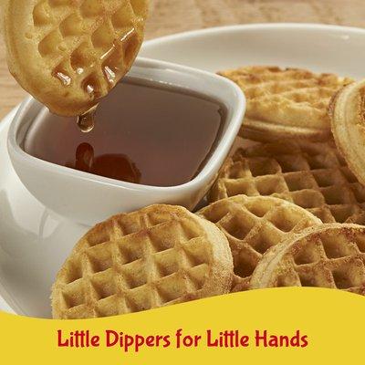 Kellogg's Eggo Mini Frozen Waffles, Frozen Breakfast, All Day Kids Snacks, Homestyle with Maple Flavor