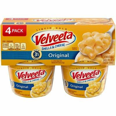 VELVEETA Shells & Cheese Original Microwavable Shell Pasta & Cheese Sauce