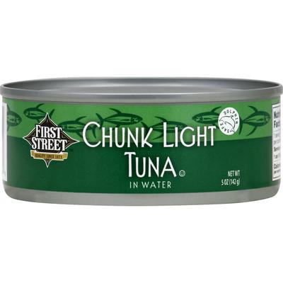 First Street Tuna, Chunk Light, in Water