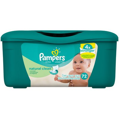 Pampers Baby Wipes Natural Clean - 72 CT