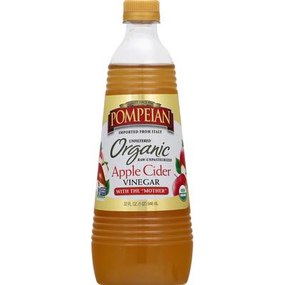 Pompeian Apple Cider, Organic, Vinegar
