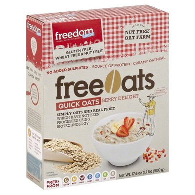Freedom Foods Oats, FreeOats, Quick, Berry Delight, Box
