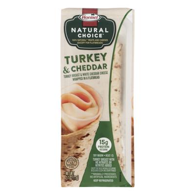 Hormel Natural Choice Turkey & Cheddar Wrapped in a Flatbread