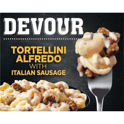 Devour Tortellini Alfredo with Italian Sausage Frozen Meal
