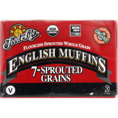 Food for Life English Muffins 7-Sprouted Grains
