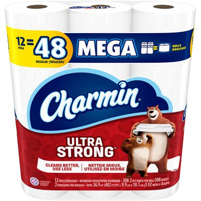 Charmin Ultra Strong Bathroom Tissue Mega Rolls