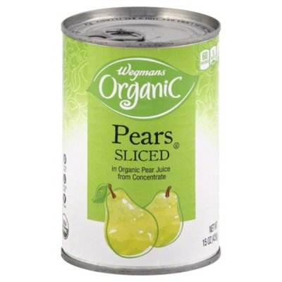 Wegmans Organic Pears Sliced