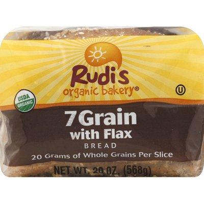 Rudi's Organic Bakery Bread, Organic, 7 Grain, with Flax