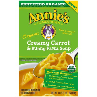 Annie's Creamy Carrot & Bunny Pasta Organic Soup