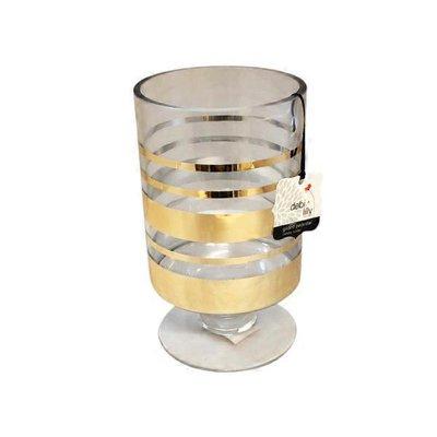 Debi Lilly Medium Dl Gold Ped Vase