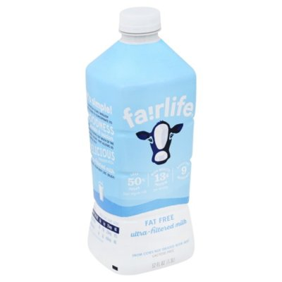 Fairlife Fat Free Ultrafiltered Milk, Lactose Free