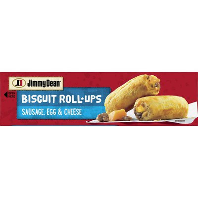 Jimmy Dean Biscuit Roll-Ups, Sausage, Egg & Cheese