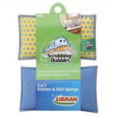 Scrubbing Bubbles Kitchen & Dish Sponge, 2 in 1