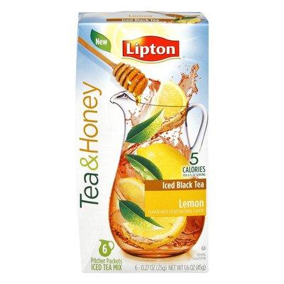 Lipton LiptonTea & Honey Lemon Flavor Iced Black Tea Pitcher Packets Mix - 6 CT