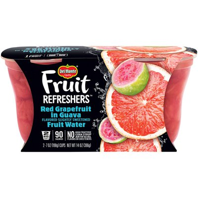 Del Monte Fruit Refreshers Red Grapefruit in Guava Flavored Fruit Water Plastic Fruit Cup Snacks