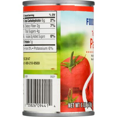 Food Lion Tomato Paste