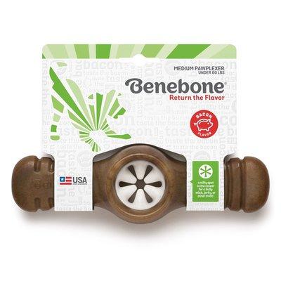 Benebone Small & Medium Bacon Pawplexer Interactive Treat Dispensing Tough Dog Puzzle Chew Toy