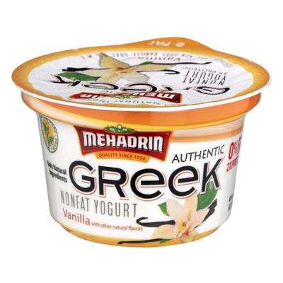 MEHADRIN Non Fat Greek Yogurt Vanilla