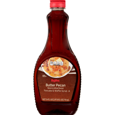 Hy-Vee Pancake & Waffle Syrup, Butter Pecan