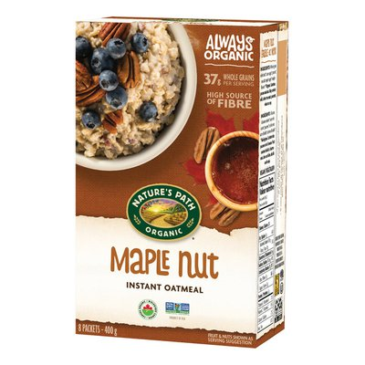 Nature's Path Maple Nut Instant Oatmeal