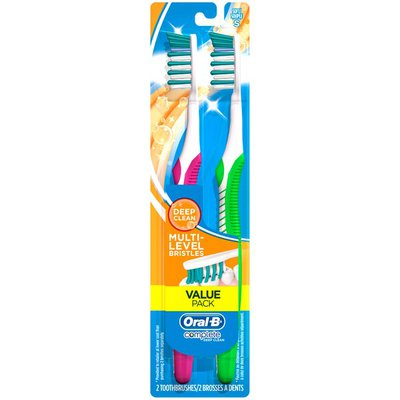 Oral-B Oral B Complete Deep Clean Multi-Level Bristles Toothbrushes Soft - 2 PK