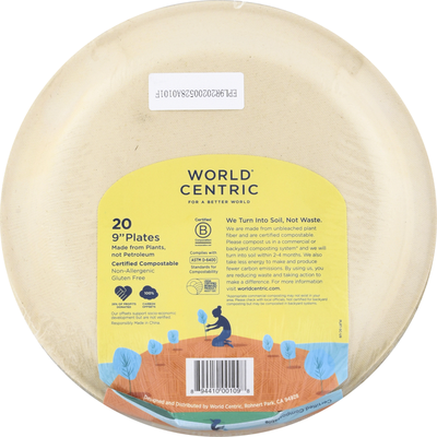 World Centric Plates, 9 Inch
