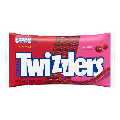 Twizzlers Candy, Cherry, Twists