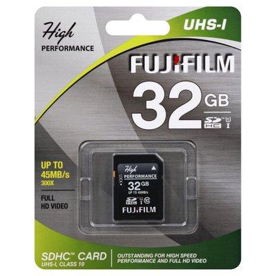 Fujifilm SDHC Card, UHS-I, 32 gb