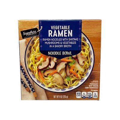 Signature Select Vegetable Ramen Noodles With Shitake Mushrooms & Vegetables In A Savory Broth Noodle Bowl