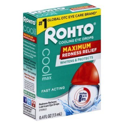 Rohto Eye Drops, Cooling, Maximum Redness Relief